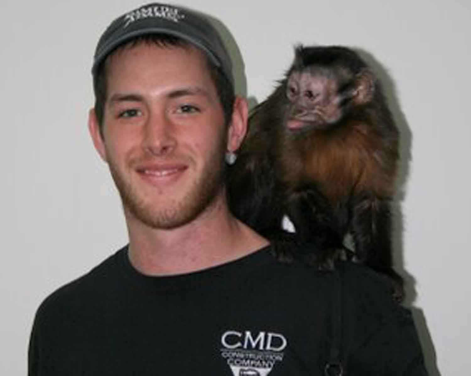 John Picture with Monkey