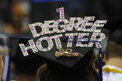 Mortar board that says 1 Degree Hotter