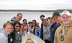UMass Lowell concrete canoe team