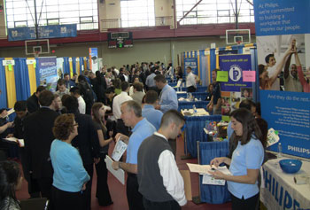 Hundreds of students attended the fall Career Fair in search of internships, co-op positions and full-time jobs.