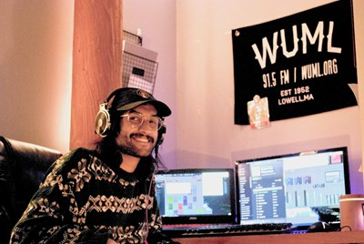 Junior Sai Patel helped keep the radio station on the air after it shifted to remote operations via a patchwork of home computers.