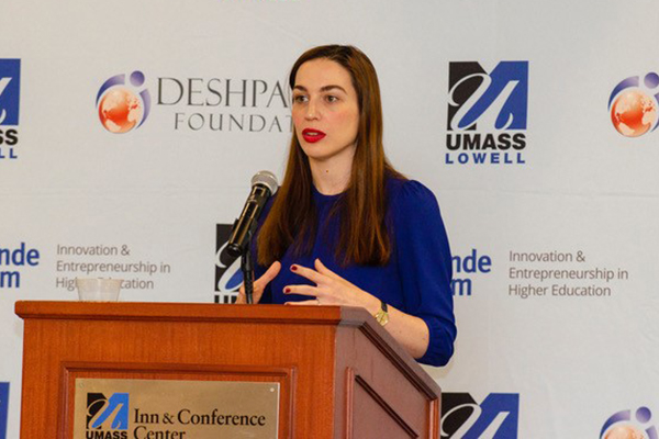 In her Deshpande Symposium keynote speech, Venture for America CEO Amy Nelson said the U.S. needs to produce more entrepreneurs.