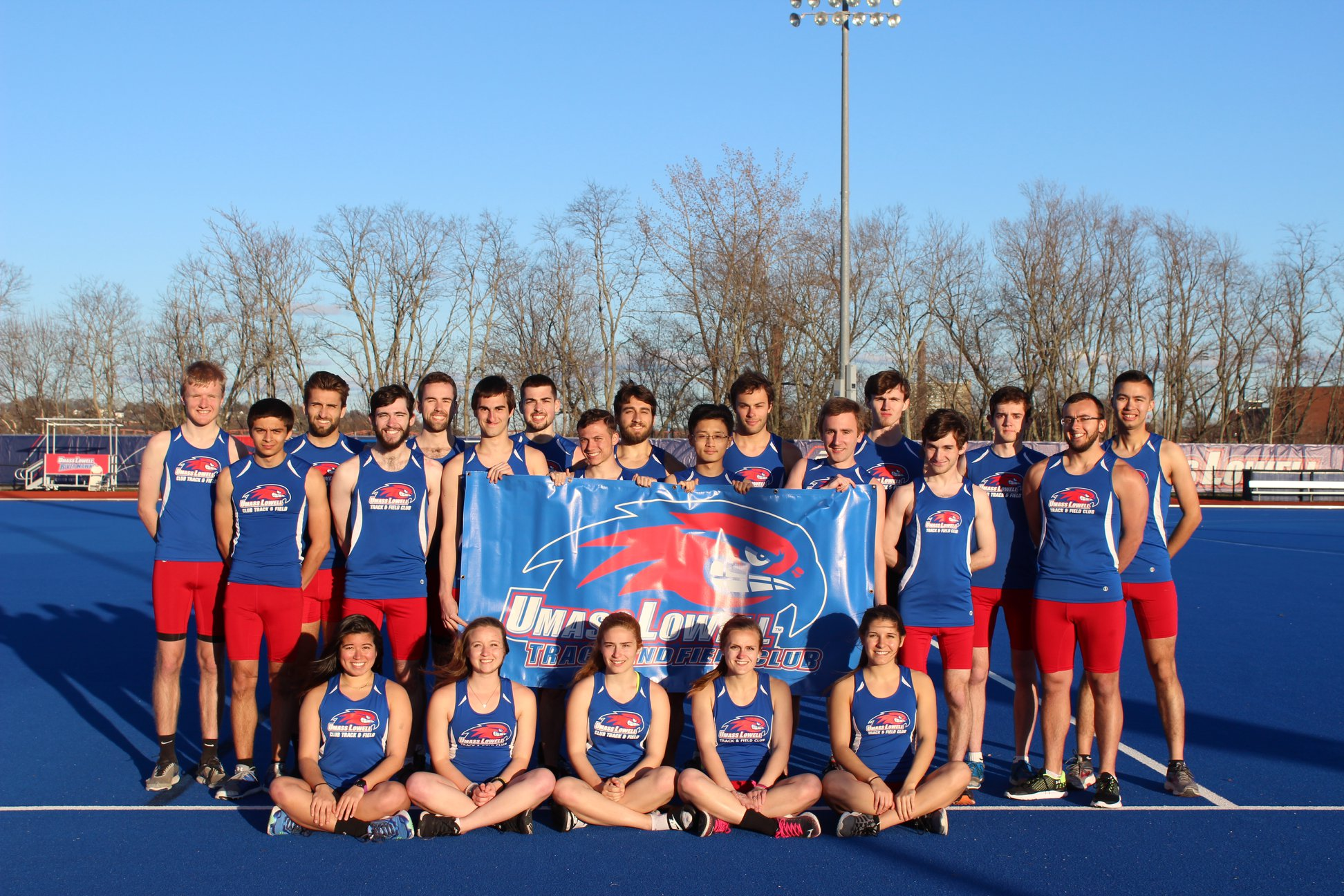 Team photo of UMass Lowell Club Track & Field