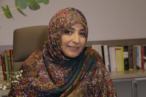 Nobel Peace Prize winner Tawakkol Karman, UMass Lowell's 2018 Greeley Scholar for Peace Studies, will deliver a keynote address on non-violence as a means of struggle, change and success at the university's annual Day Without Violence, a free program for the campus and public, on Tuesday, April 3.