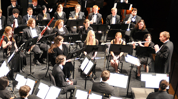 Daniel Lutz, UMass Lowell director of university bands, will conduct the Wind Ensemble at its free fall concert on Thursday, Nov. 16.