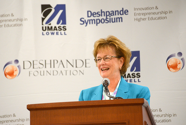 UMass Lowell Chancellor Jacquie Moloney, co-founder of the Deshpande Symposium for Innovation and Entrepreneurship in Higher Education, is among the speakers at this year's event.