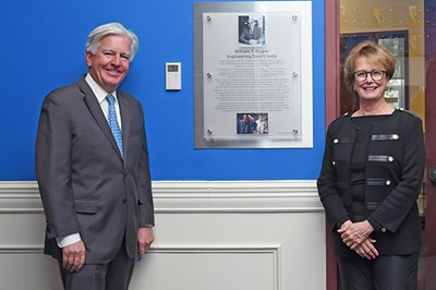 UMass Lowell ceremony dedicating space in Southwick Hall to William Hogan