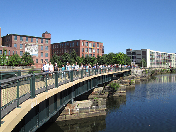 """Lowell Walks"" events take participants on guided tours through the city to learn about its history and culture."