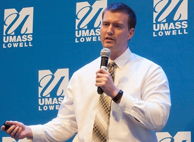 UMass Lowell student Michael Doane