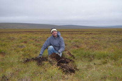 UMass Lowell Prof. Daniel Obrist in the Alaskan tundra
