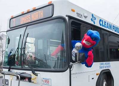 Rowdy on the bus at LRTA event