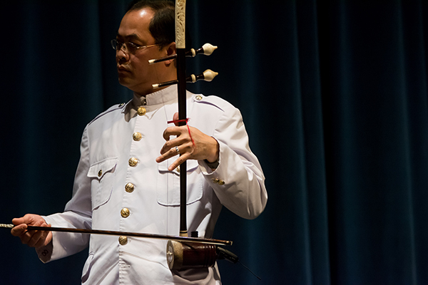 "Sovann Khon will perform the tro sou, a two-stringed bowed instrument, during ""Sounding Out,"" a concert to be held on Friday, Sept. 23."