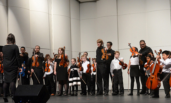 Schoolchildren from throughout the Merrimack Valley will perform in the UMass Lowell String Project's free winter showcase on Thursday, Dec. 8.