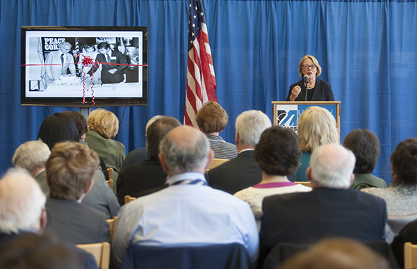 U.S. Rep. Niki Tsongas, the widow of former U.S. Sen. Paul Tsongas, reflected on her husband's legacy during an event to launch UMass Lowell's digital archive of his congressional papers.
