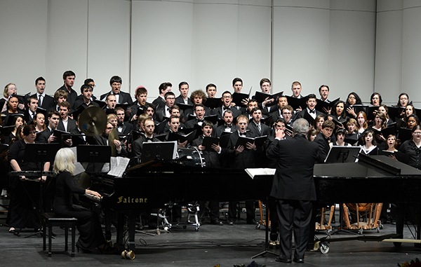 "The University Choir will be among the ensembles that will perform at ""Showing Off!,"" a concert to benefit student scholarships on Friday, March 31."