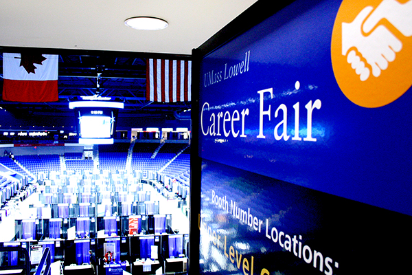UMass Lowell's Career Fair on Wednesday, Oct. 26 will bring together 200 top employers with 1,500 students looking for full-time jobs, co-ops and internships.