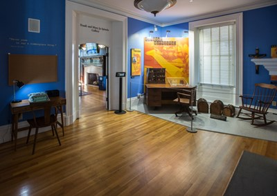 Kerouac exhibit in Allen House on UMass Lowell's South Campus