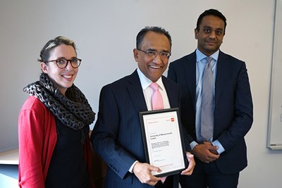 Accounting Chair Khondkar Karim with ACCA officials