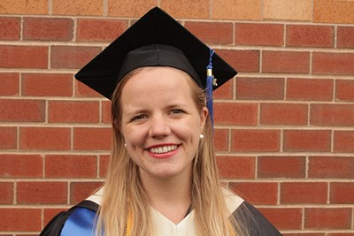 Abigail Koljonen graduated with a perfect 4.0 GPA from UMass Lowell.