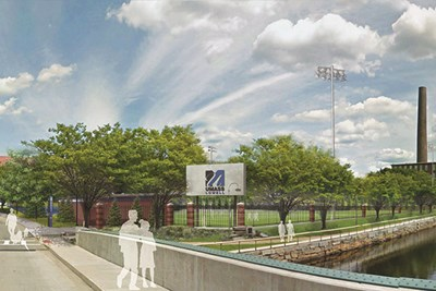 Artist rendering of new Aiken Fields