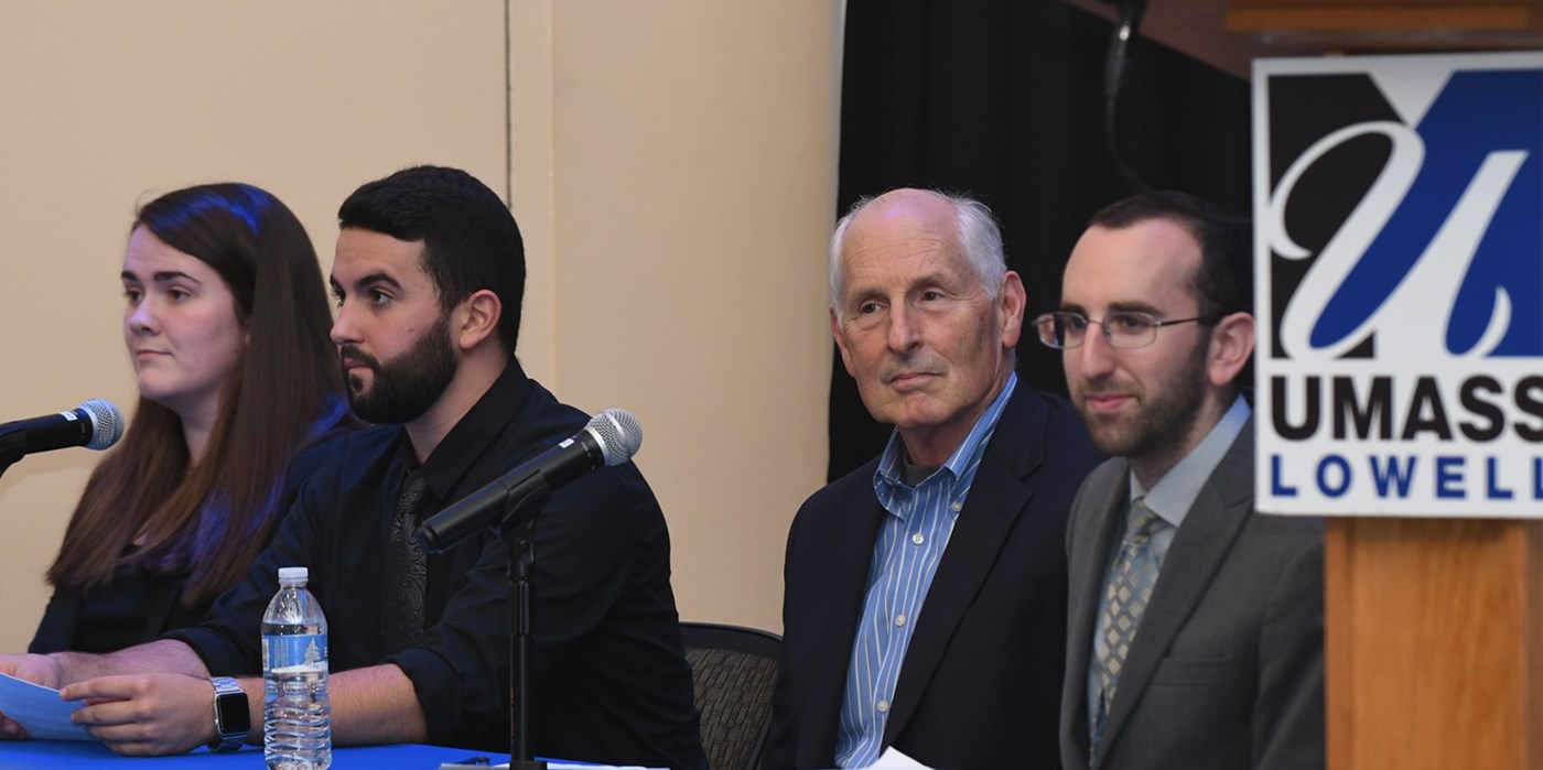 Andrew Sciascia participated in a debate held at UMass Lowell