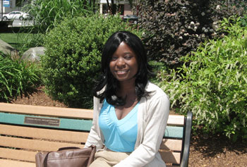 Sociology major Angelique Mugabekazi won scholarships to travel to Rwanda and Uganda this summer to study peace and conflict in the region. A native of Rwanda, Mugabekazi fled the country after the genocide of 1994.
