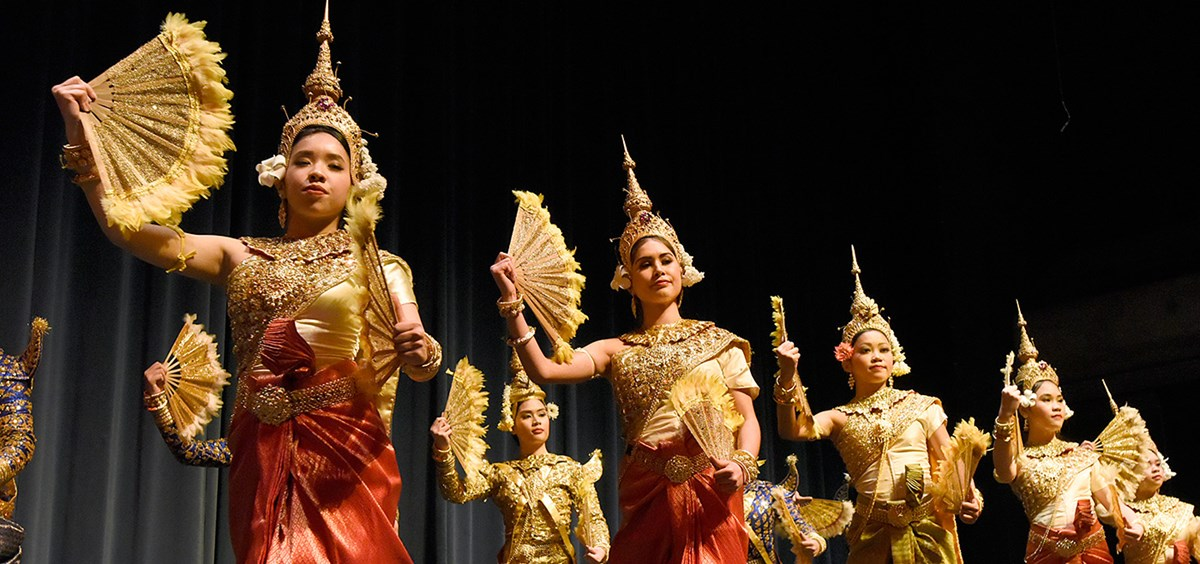 "Asian American Cultures Festival: Flying Orb Productions ""The Kingdom of Kambuja,"" Angkor Dance troupe, UML World Music Ensemble"