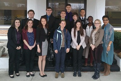 Honors professional communication students at BAE Systems