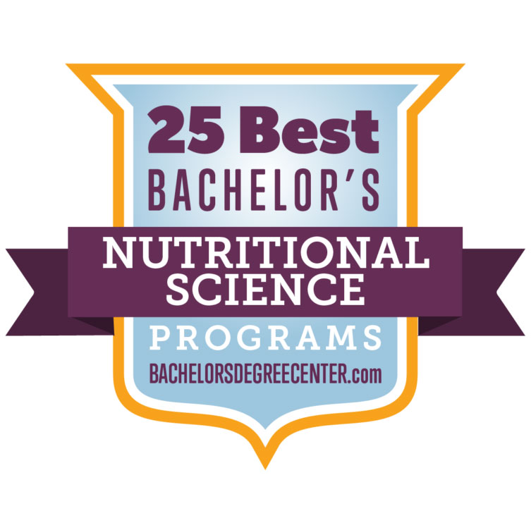Badge for Bachelor's Degree Center - 25 Best Nutritional Science Programs
