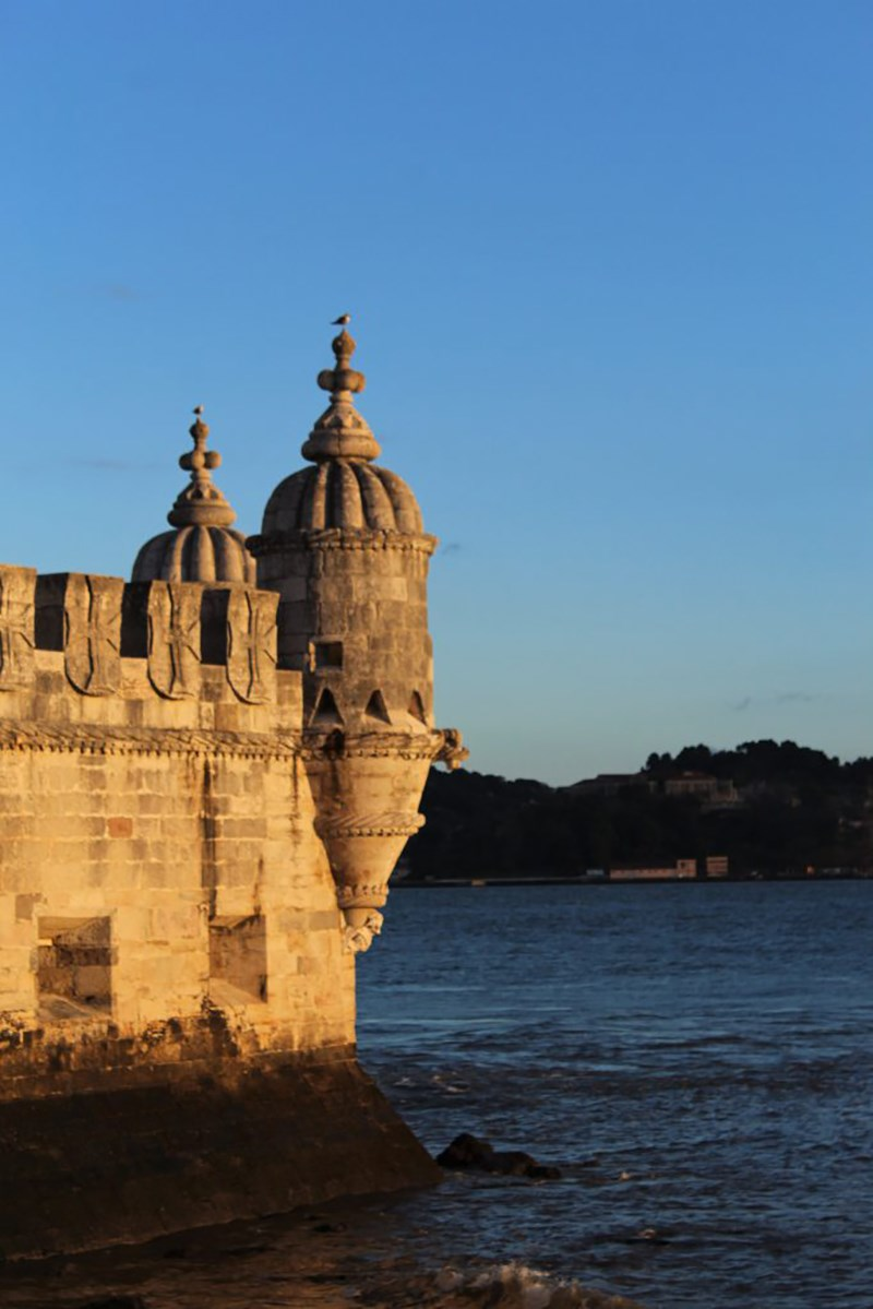 A side view of Belém Tower in Lisbon, Portugal as taken during a UMass Lowell study abroad trip.