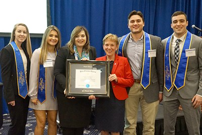 Beta Gamma Sigma officers with Sandra Richtermeyer and Joanne Yestramski