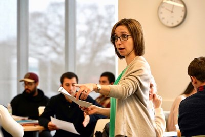 Beth Humberd teaches a class at the Manning School of Business