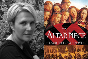 "Lauren Fogle Boyd's historical novel ""The Altarpiece"" centers around Nazi art-looting during World War II, a popular topic with recent developments."