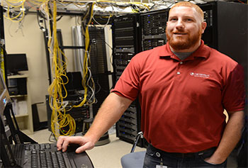 IT major Brandon Geisler got professional experience working for NetScout Systems under the Wired for Work pilot co-op program for student veterans.
