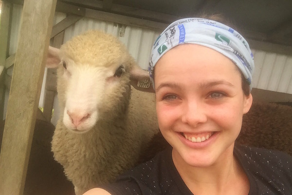 MPH Dietetics major Brianna Trainor taught children about healthy eating and cared for animals at the Wright-Locke Farm during her supervised practice experience.