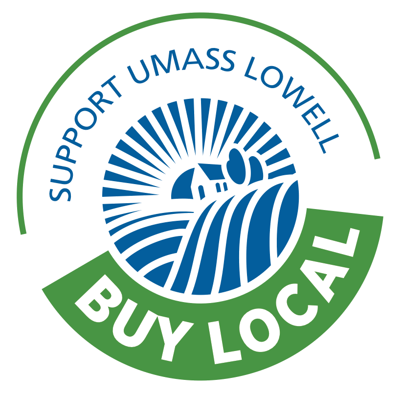 Buy Local- Support UMass Lowell Logo