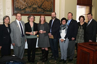 Members of the Climate Change Initiative at the State House