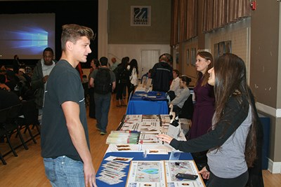 Student clubs gave out information about how to get involved.