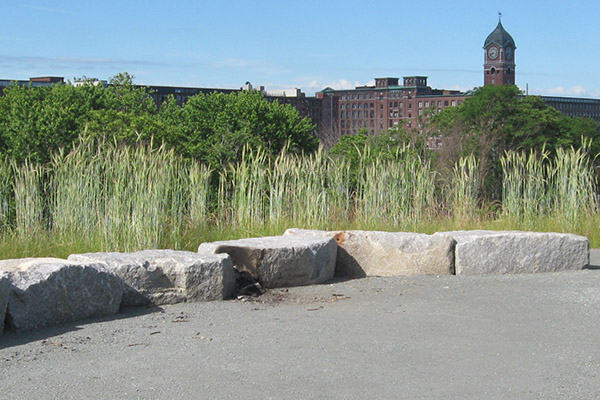 Ferrous Park includes an open-air classroom on top of a hill overlooking the mills.