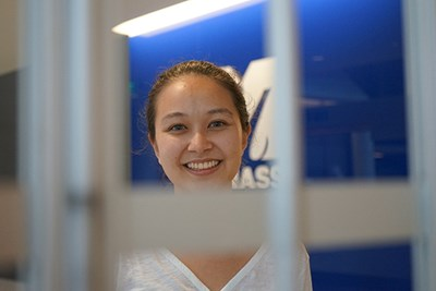 Jennifer Kawaguchi is earning her master's in security studies at UMass Lowell.