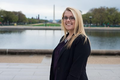 Sydney Rebello walked into a job at the US Marshals Service after an internship through UMass Lowell's partnership with The Washington Center for Internships and Academic Seminars