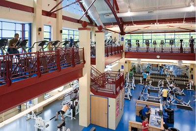 Inside view of Campus Rec Center