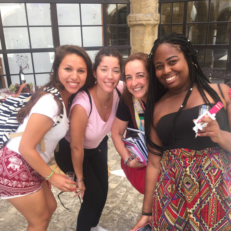 UMass Lowell students in Cadiz, Spain