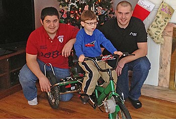 Tricycle Project to Help Youngster with Cerebral Palsy