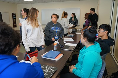 During an in-class career choice exercise at UMass Lowell, most students joined the social/helping group.