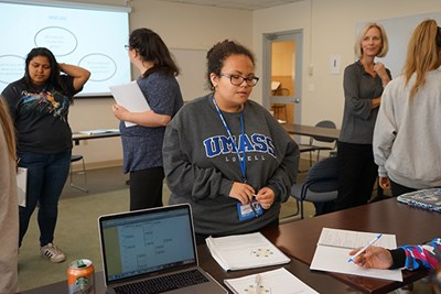 First-year UML student Michaela Wakefield changed her major from Political Science to English.