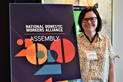 Anna Rosinska at the 2020 National Domestic Workers Alliance Assembly in Las Vegas