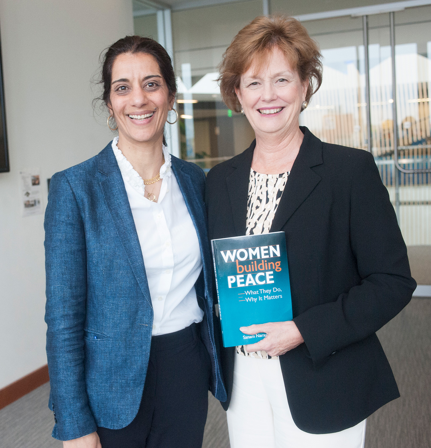 Chancellor Moloney welcomed Sanam Naraghi Anderlini, the 2016 Greeley Scholar for Peace Studies, to campus.