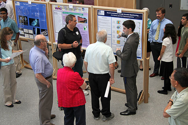 Nearly 100 undergraduate students presented their research to the university community during this year's Co-op Scholars Poster Showcase, held at University Crossing.