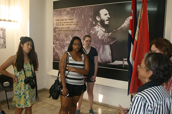 Honors students tour the National Literacy Museum in Havana, Cuba.